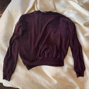 Brandy Melville maroon sweatshirt